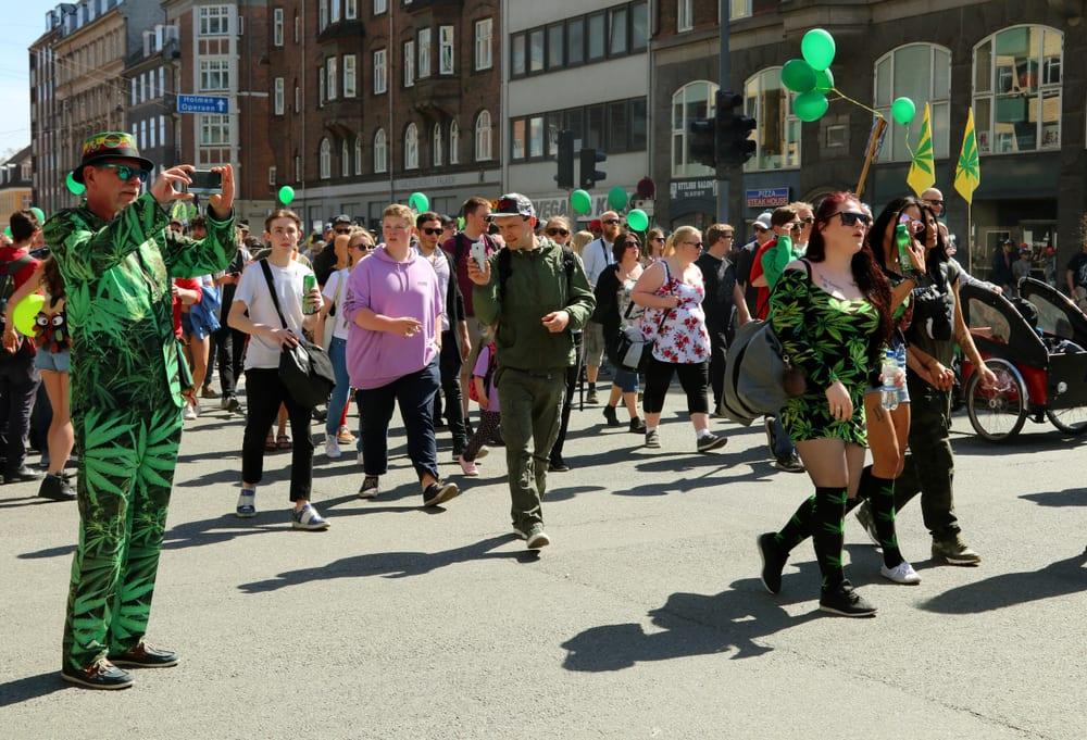 Marijuana clothing at the marijuana rally