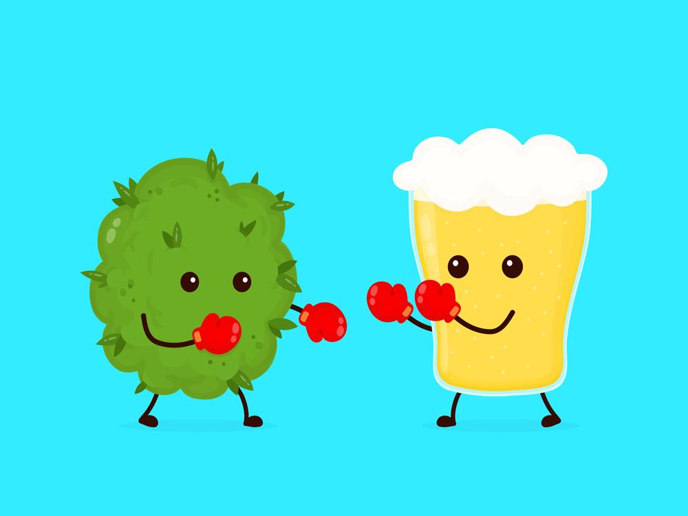 alcohol vs marijuana fighting