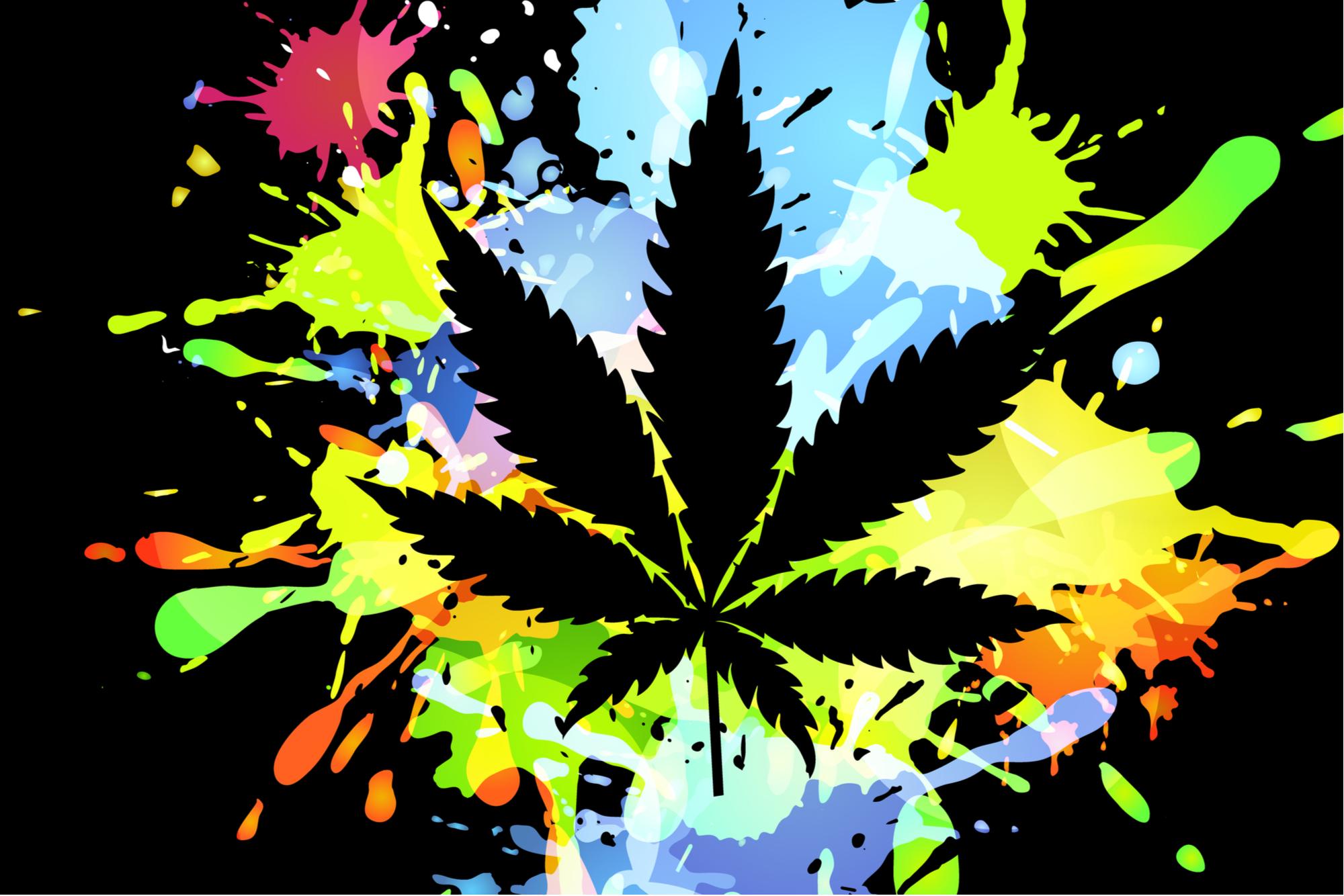 cannabis leaf creativity