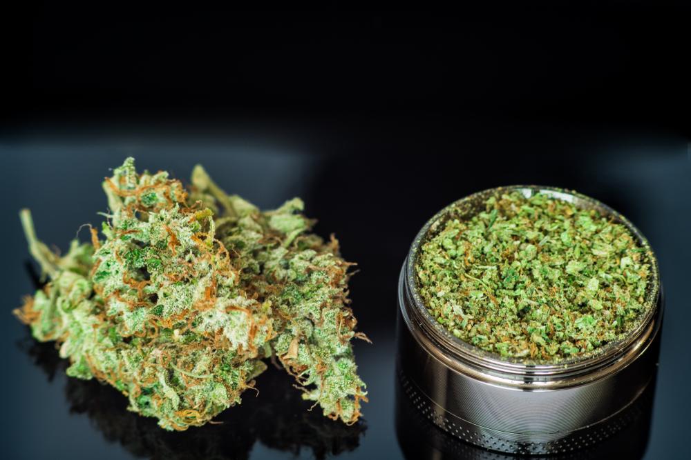marijuana flower bud grinder