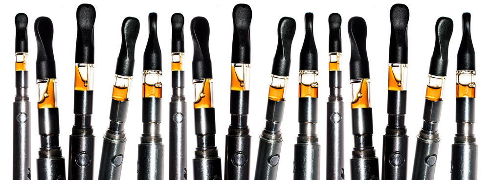 several cannabis oil cartridge vape pens
